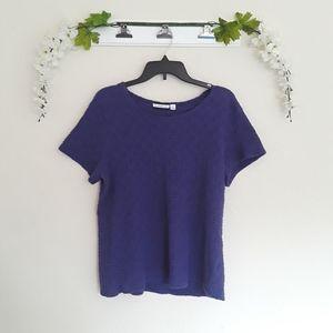 Croft & Barrow sz:XL Purple Short Sleeve Tee